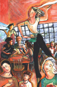 "Copper Creek Ballet, 2002 - 24"" x 36"""