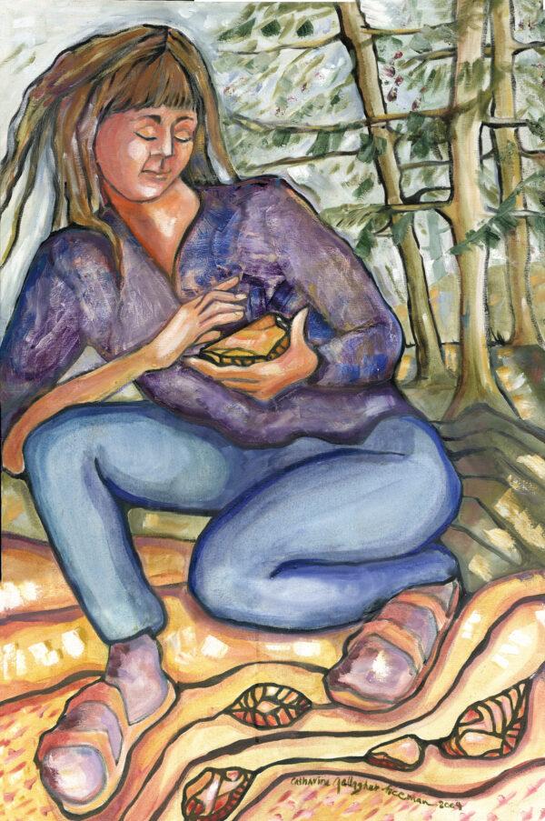 """Fawn, 2004, Acrylic on Canvas 24"""" x 36"""""""