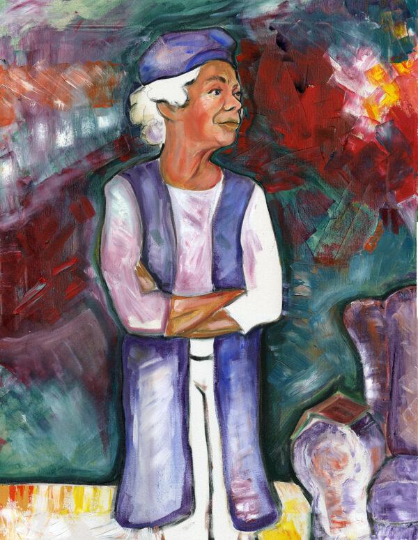 Jill, acrylic on canvas