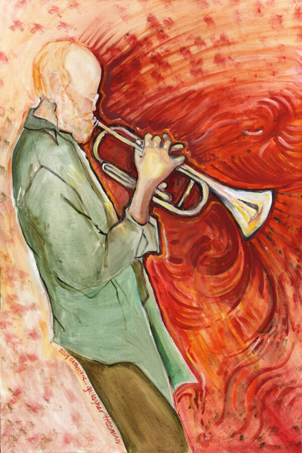 Trumpet Tom - Acrylic on Canvas, 2004 SOLD