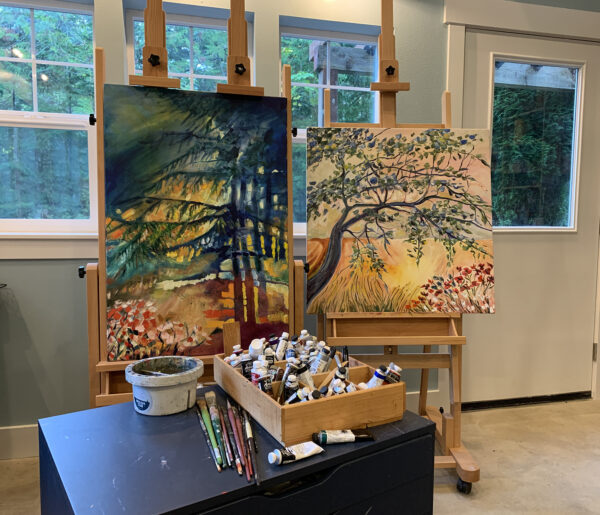 Paintings in the Studio
